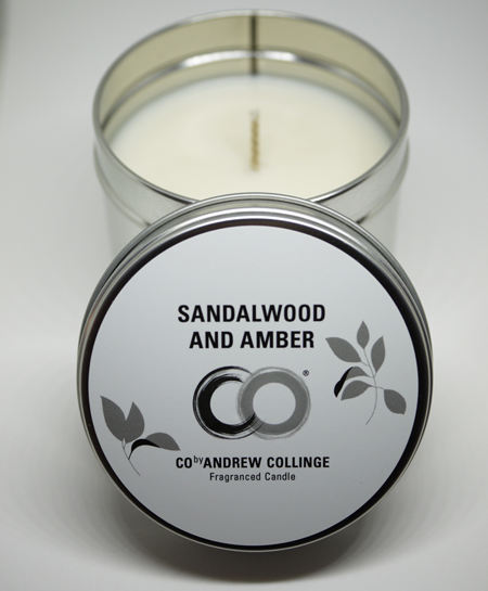 Sandalwood and Amber Fragranced Candle